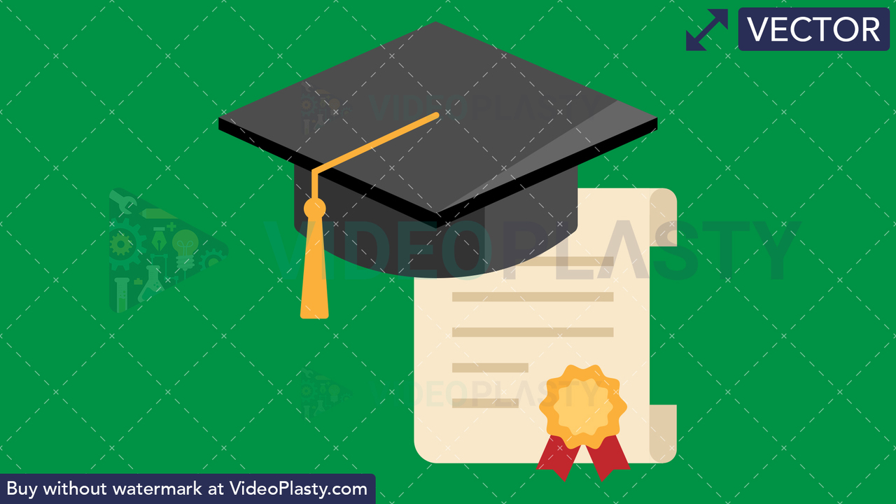 Diploma Flat Icon Vector Clipart