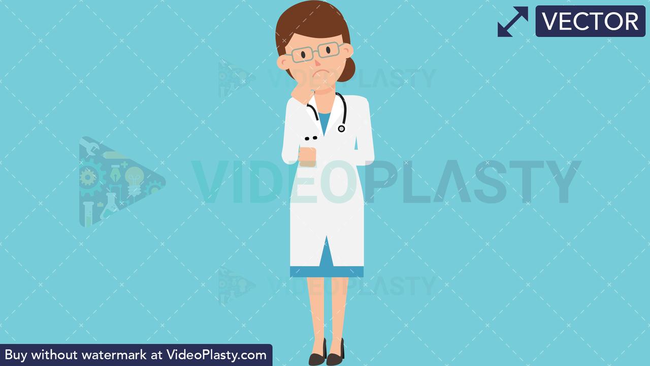 Doctor Worried Vector Clipart