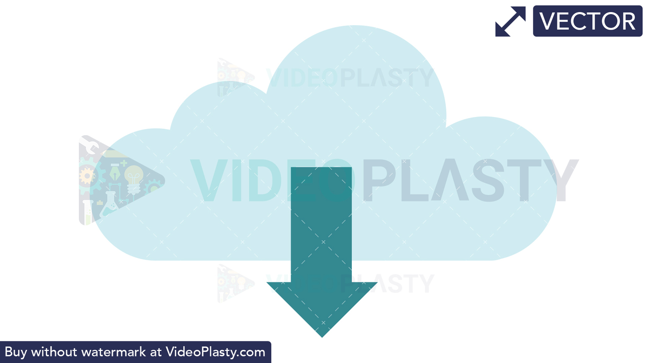Download from Cloud Icon Vector Clipart