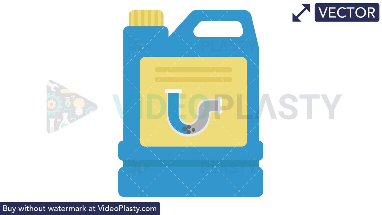 Drain Declogger Icon Vector Clipart