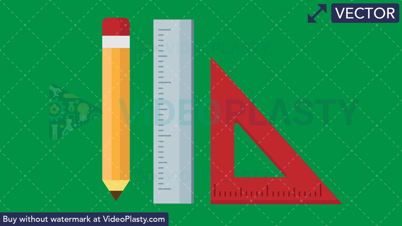 Drawing Tools Flat Icon Vector Clipart