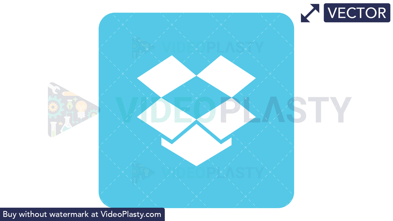Dropbox Icon Vector Clipart