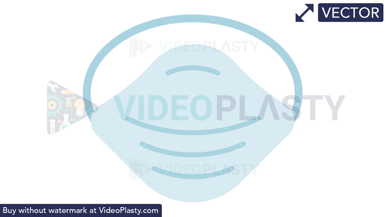Dust Mask Icon Vector Clipart