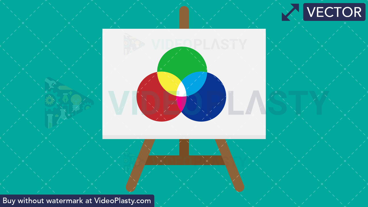 Easel with Canvas Vector Clipart