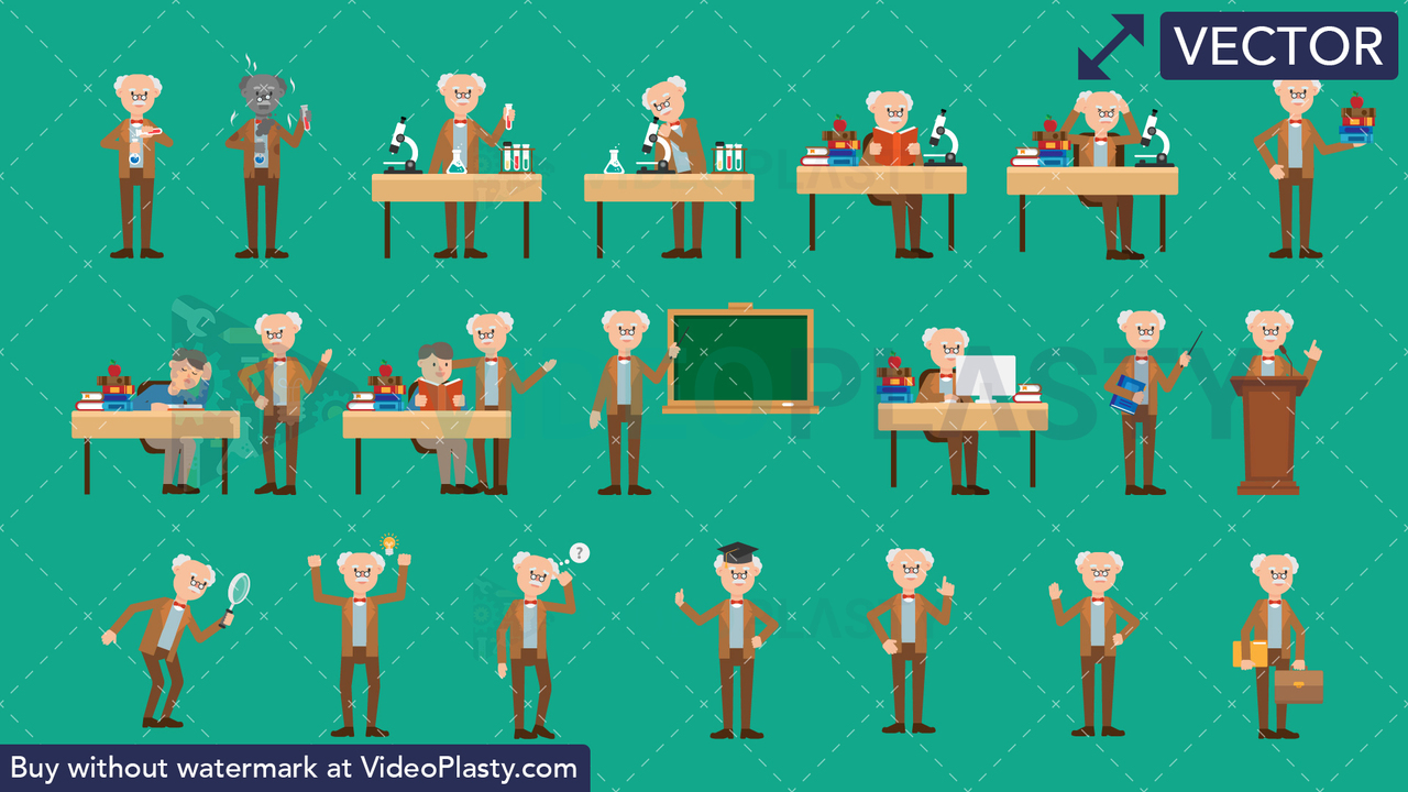 Education Bundle - 20 Character Actions Vector Clipart
