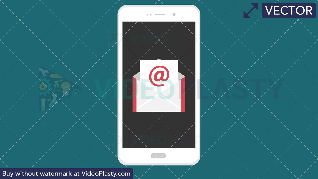 Email Flat Icon Vector Clipart