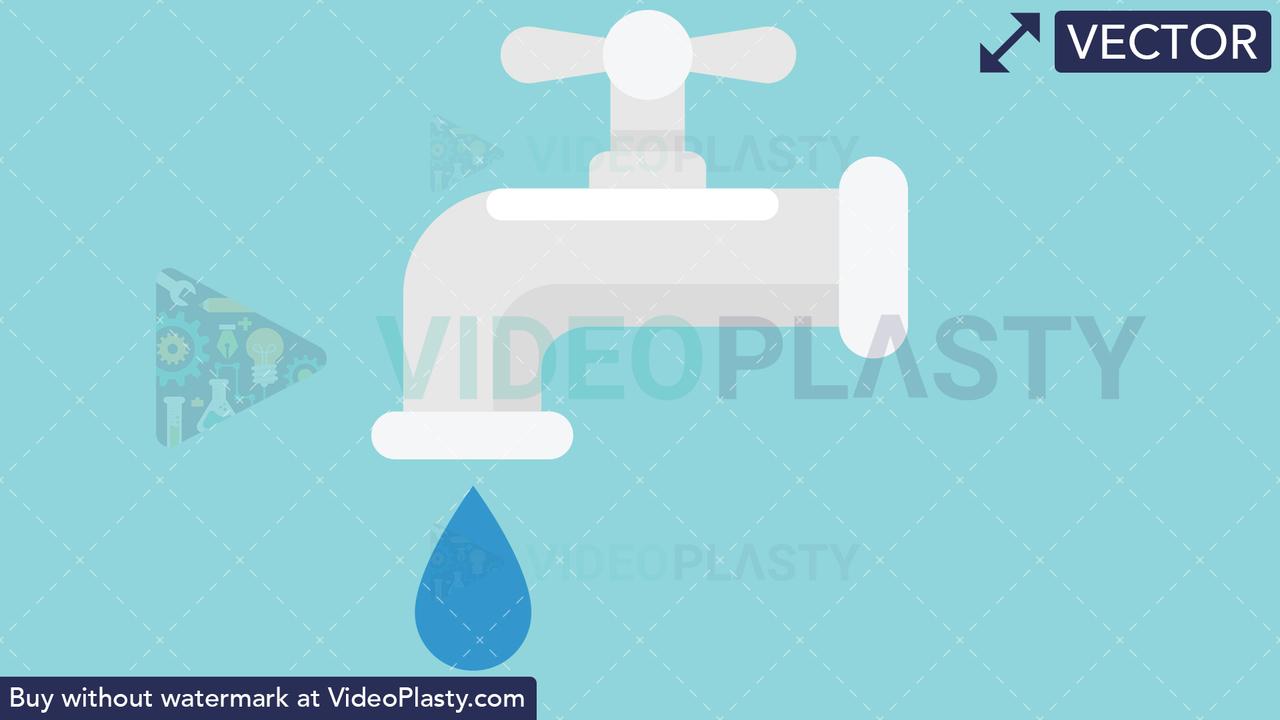 Faucet Iocn Vector Clipart