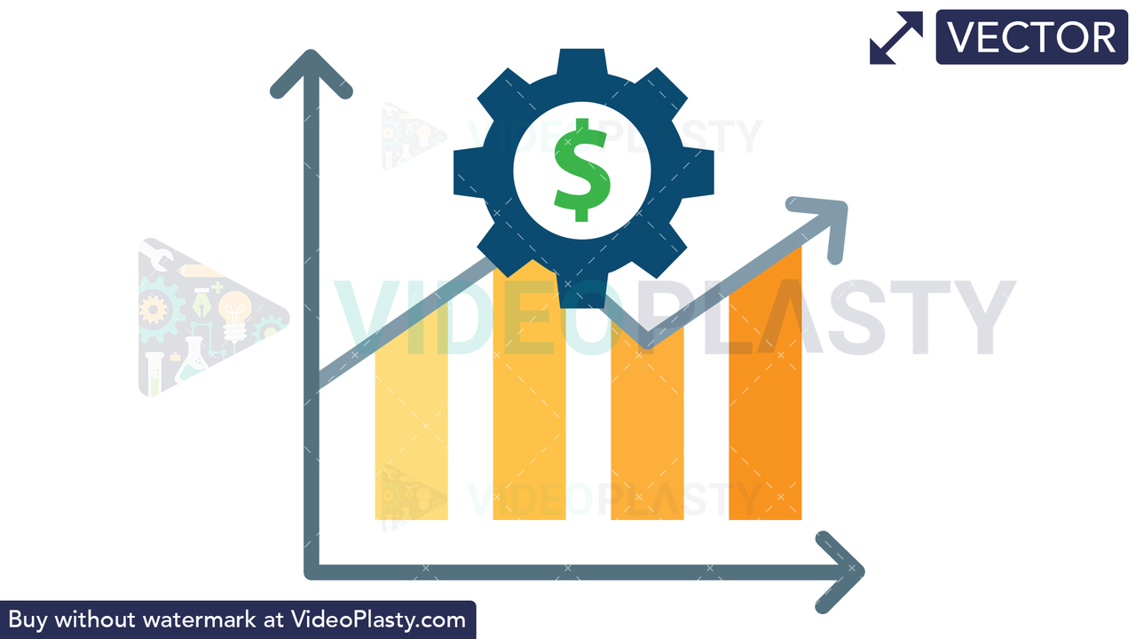 Financial Management Icon - Dollar Vector Clipart