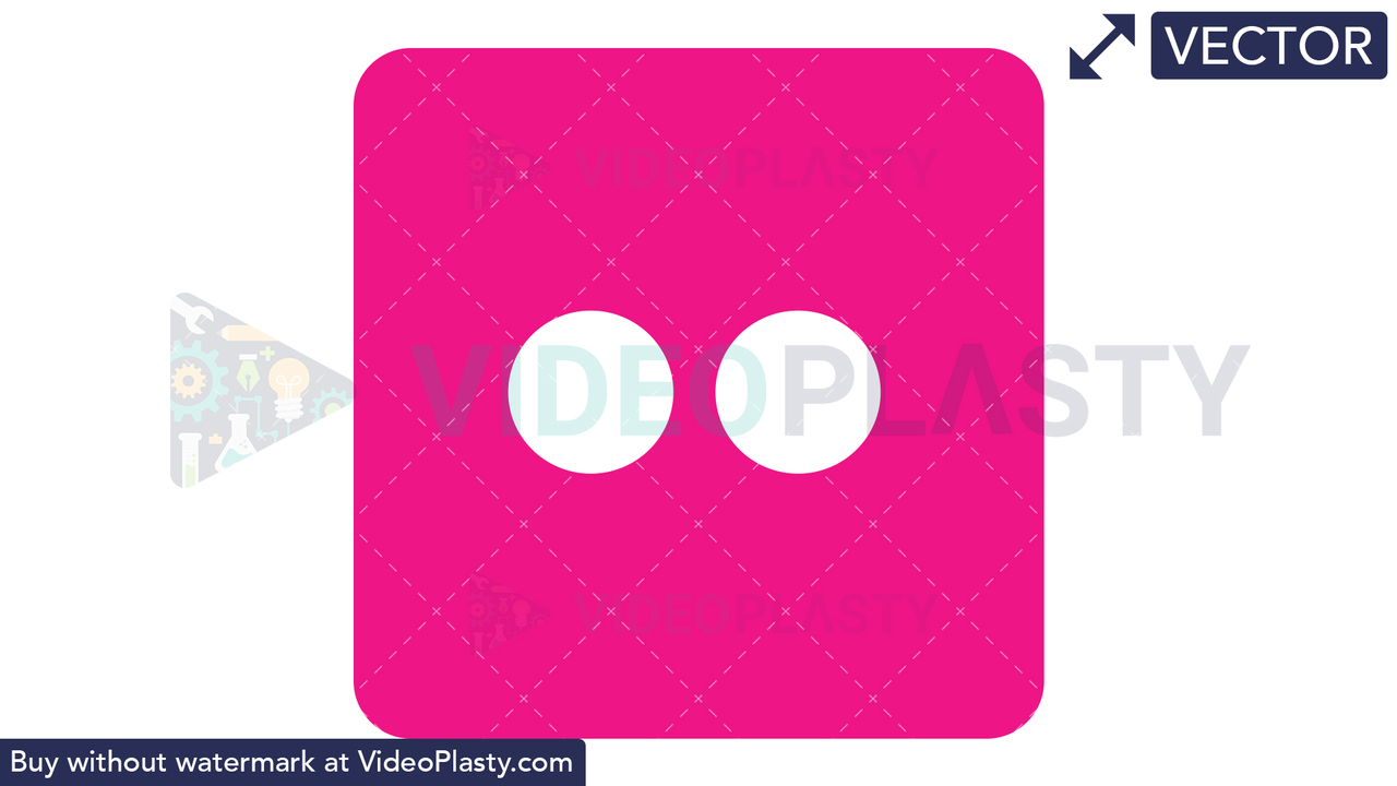 Flickr Icon Vector Clipart