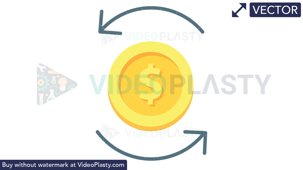 Foreign Exchange Icon - Dollar Vector Clipart