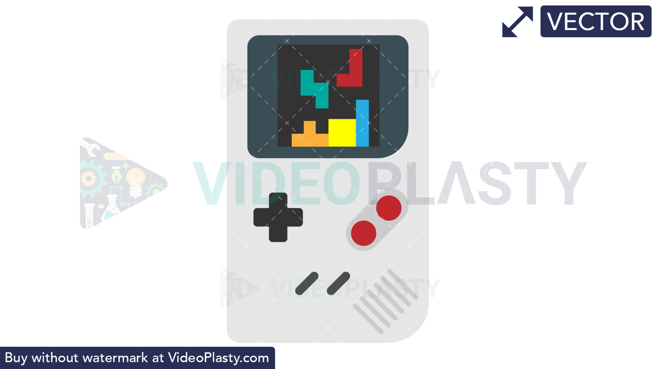 Gameboy Icon Vector Clipart