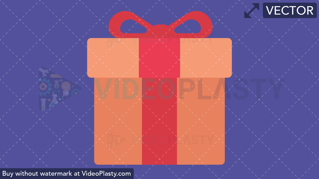 Gift Flat Icon Vector Clipart