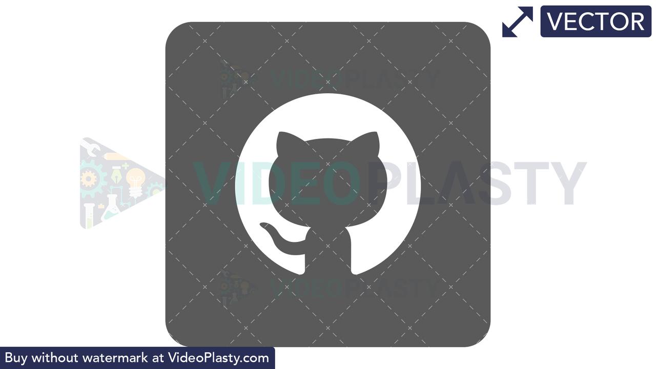 GitHub Icon Vector Clipart