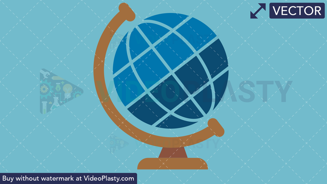 Globe Flat Icon Vector Clipart