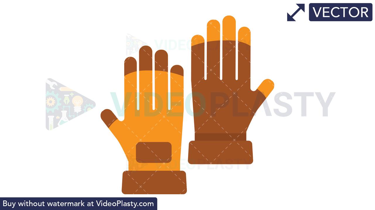 Gloves Icon Vector Clipart