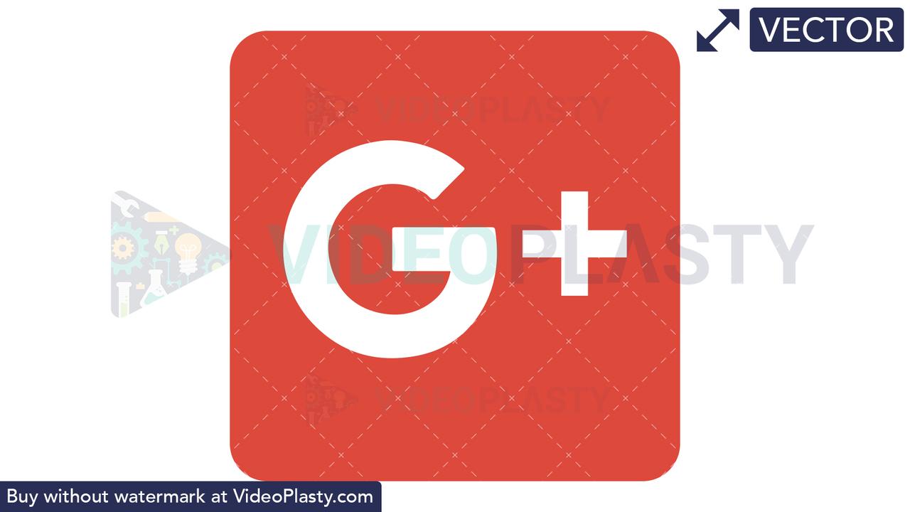 Google Plus Icon Vector Clipart