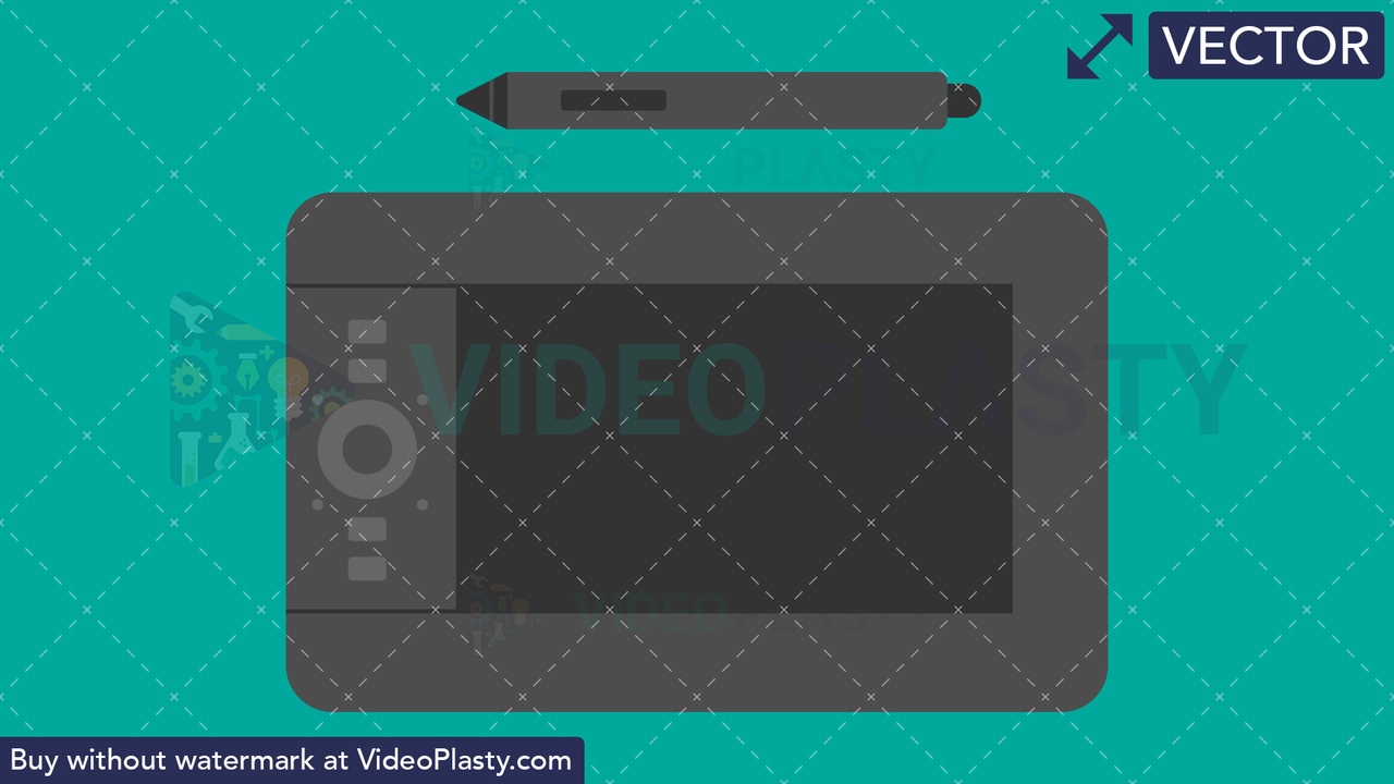 Graphic Tablet Flat Icon Vector Clipart
