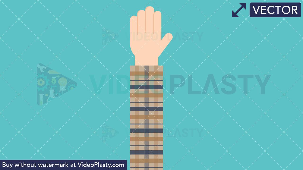 Hand Gesture: High Five Vector Clipart