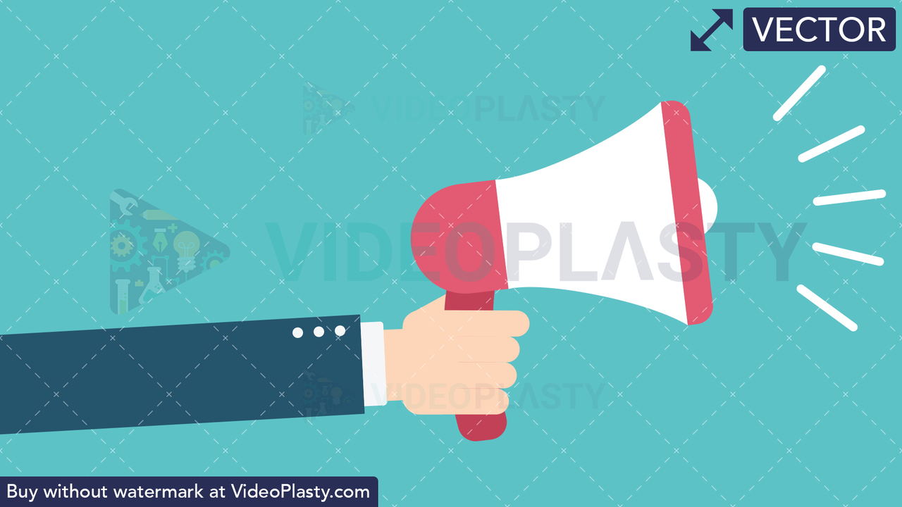 Hand Gesture: Holding a Megaphone Vector Clipart
