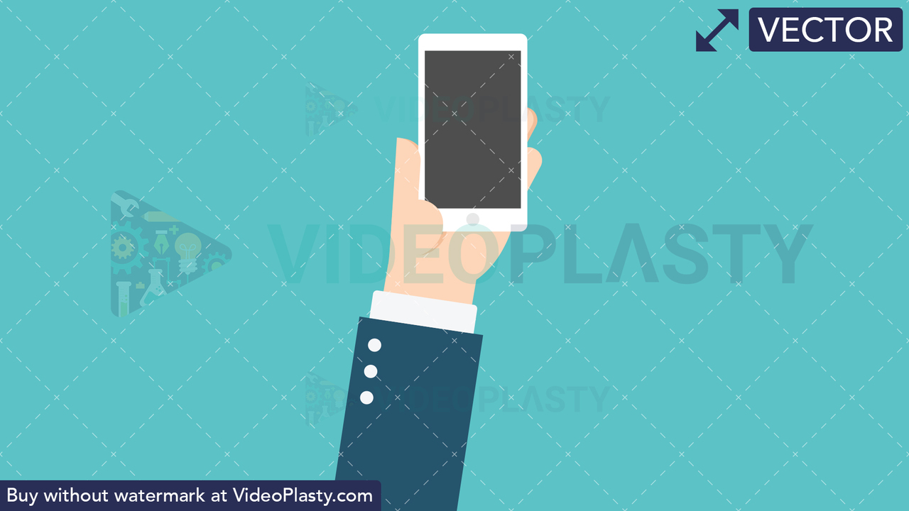 Hand Gesture: Holding a Phone Vector Clipart