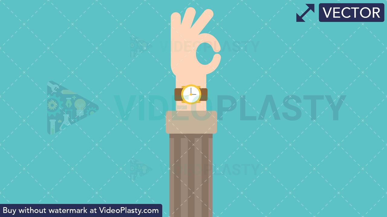 Hand Gesture: Ok Vector Clipart