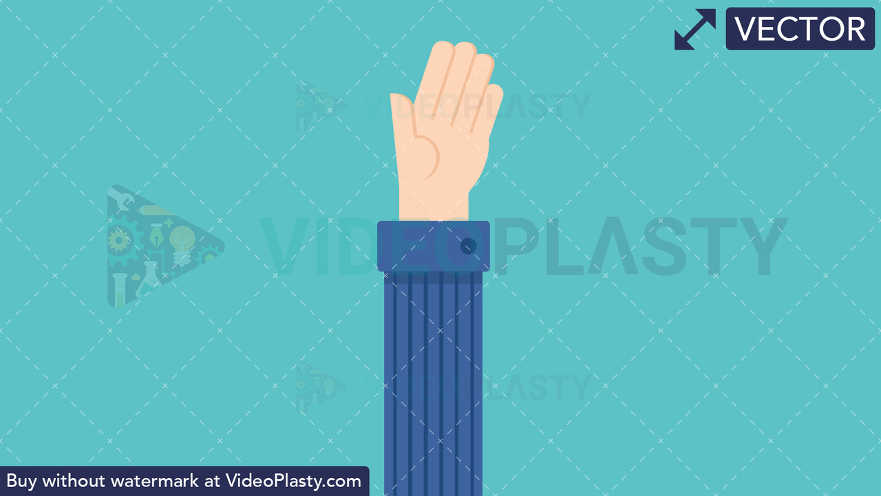 Hand Gesture: Open Palm Vector Clipart