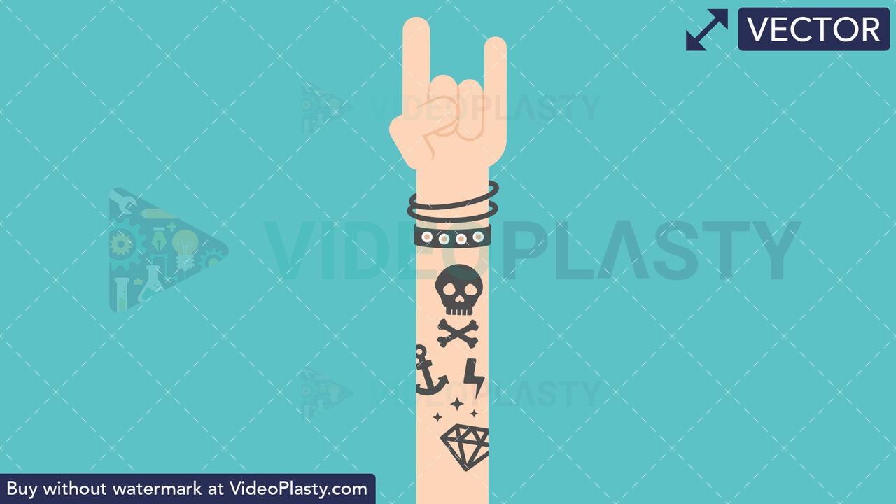 Hand Gesture: Rock Sign Vector Clipart