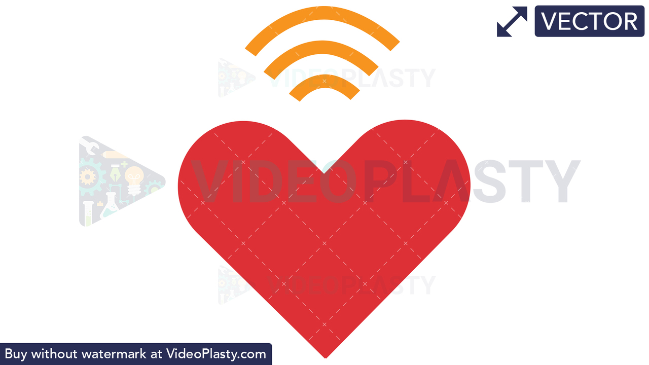 Heart Wifi Vector Clipart