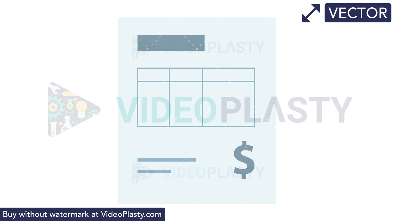 Invoice Icon - Dollar Vector Clipart