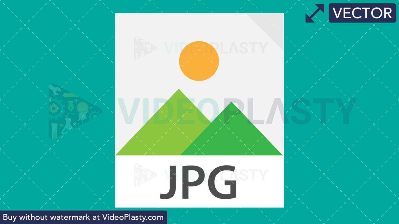 JPG Image Flat Icon Vector Clipart