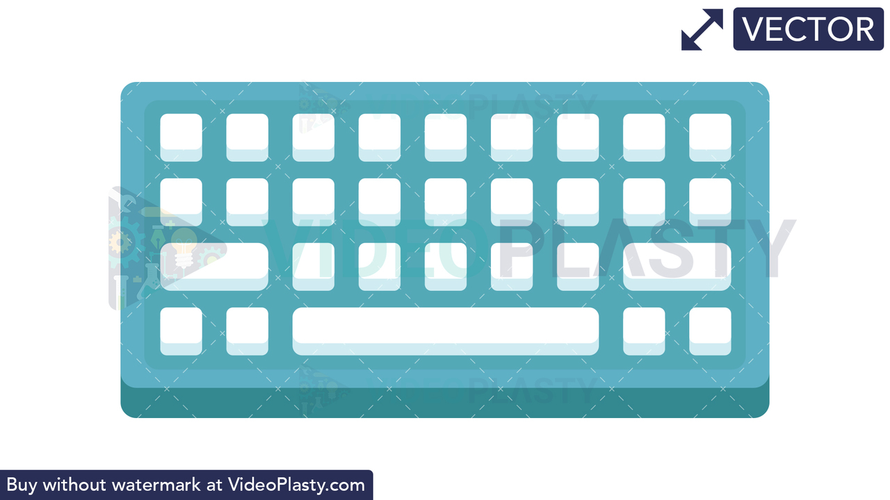 Keyboard Icon Vector Clipart