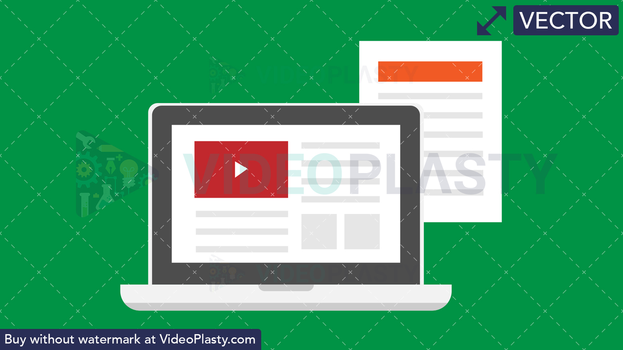 Laptop Flat Icon Vector Clipart