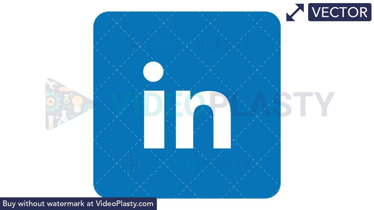 LinkedIn Icon Vector Clipart