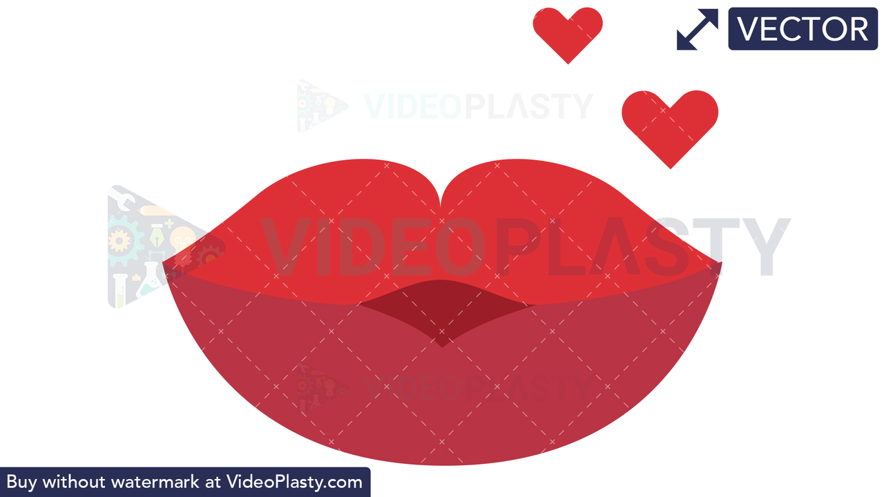 Lips Smooch Vector Clipart
