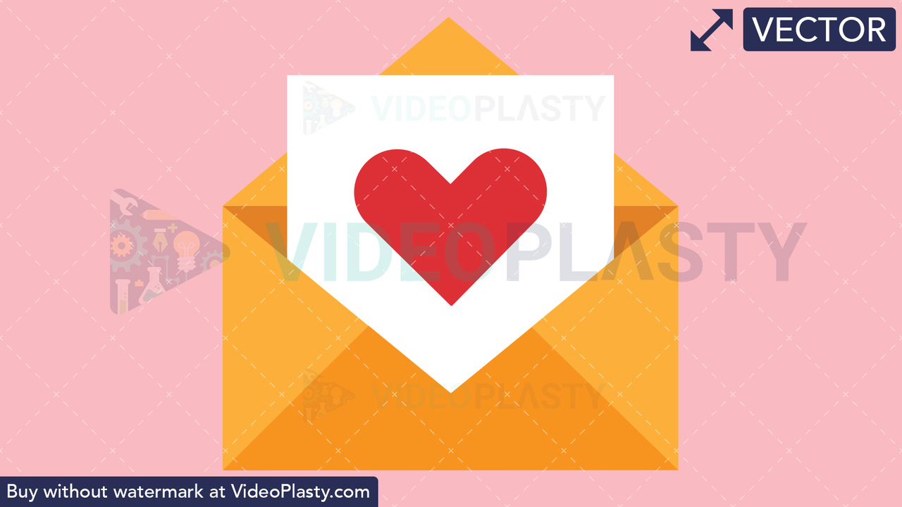 Love Letter Vector Clipart
