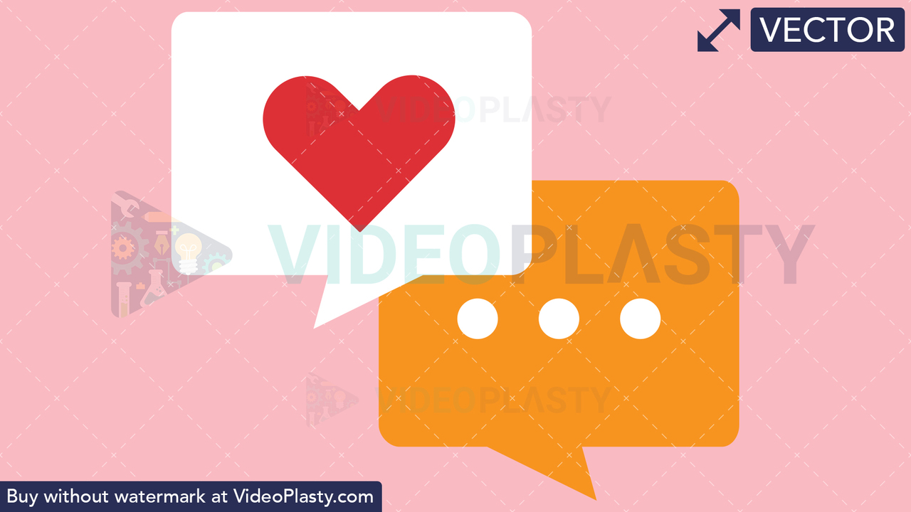 Lover's Chat Vector Clipart