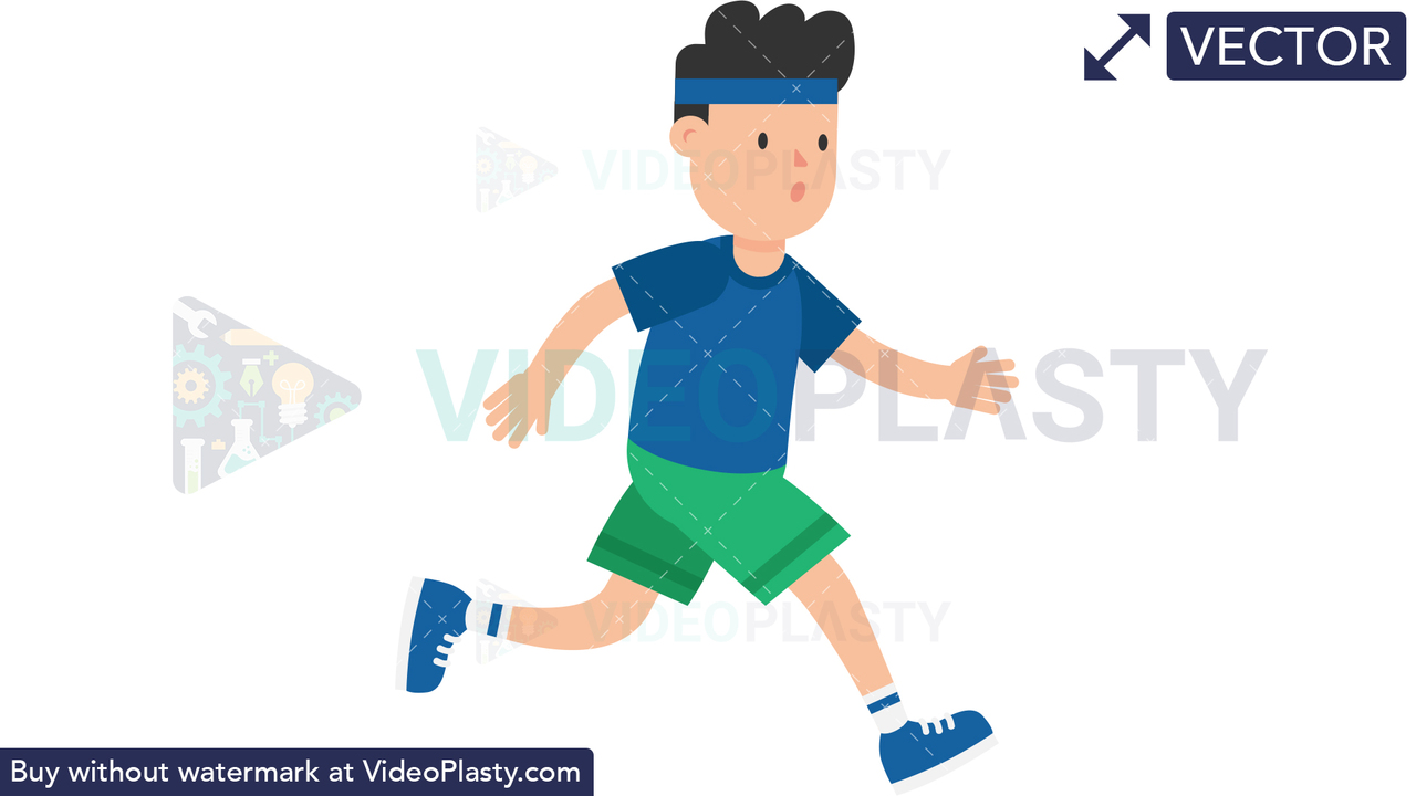 Man Jogging Vector Clipart