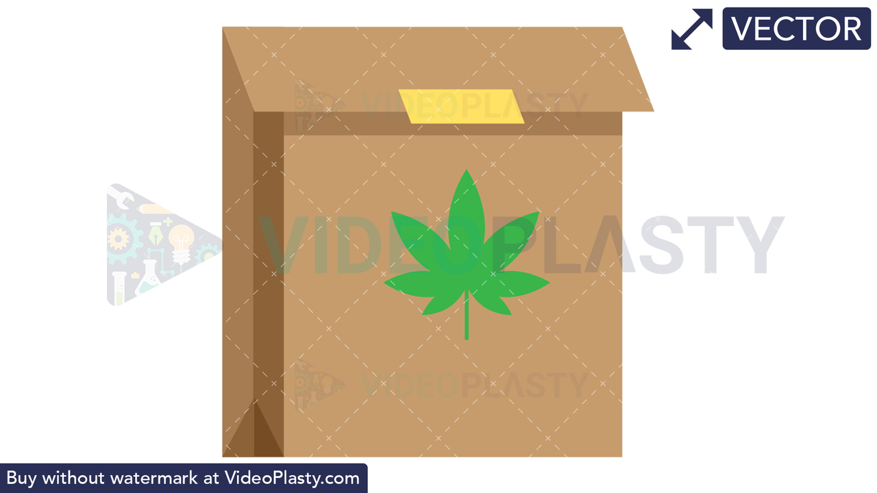 Marijuana Bag Vector Clipart