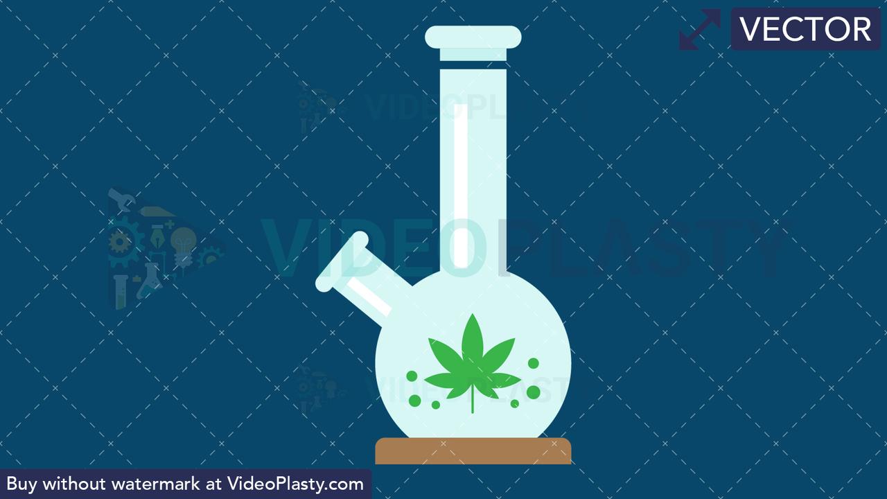 Marijuana Bong Vector Clipart