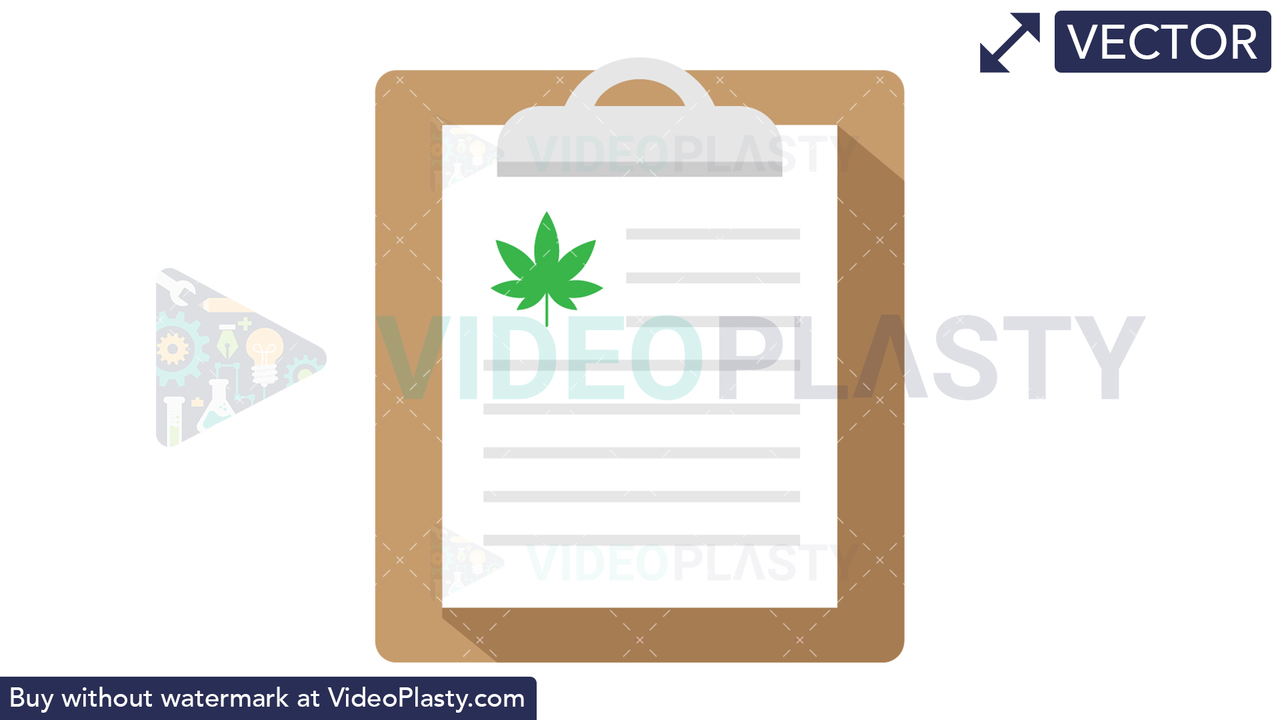 Marijuana Clipboard Vector Clipart