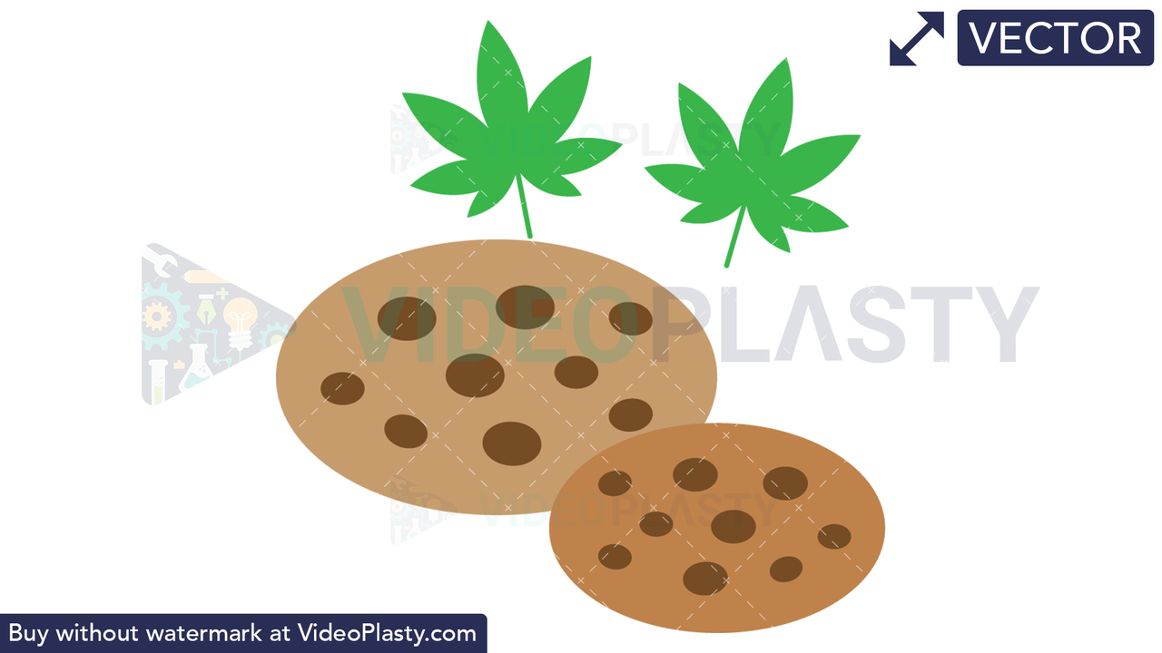 Marijuana Cookies Vector Clipart