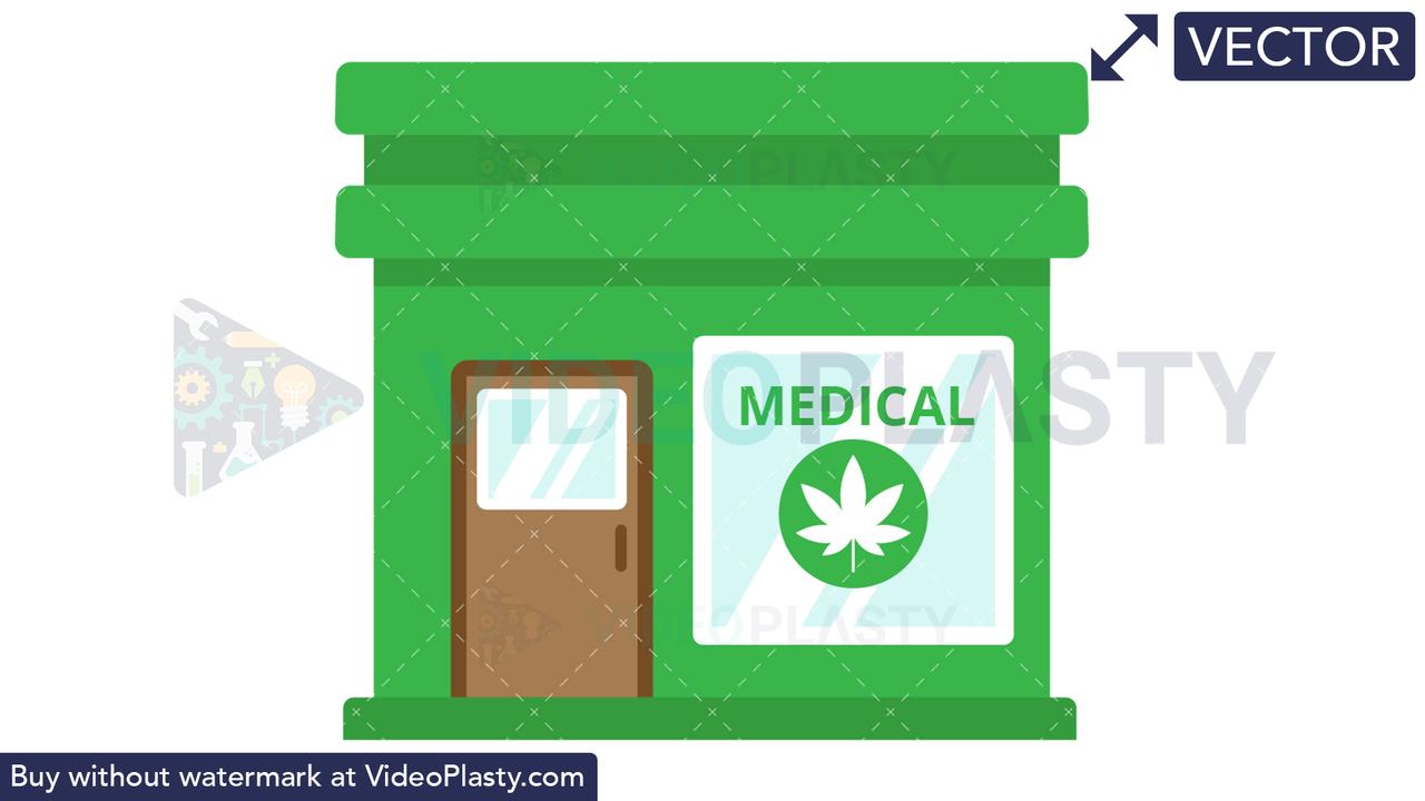 Marijuana Dispensary Vector Clipart