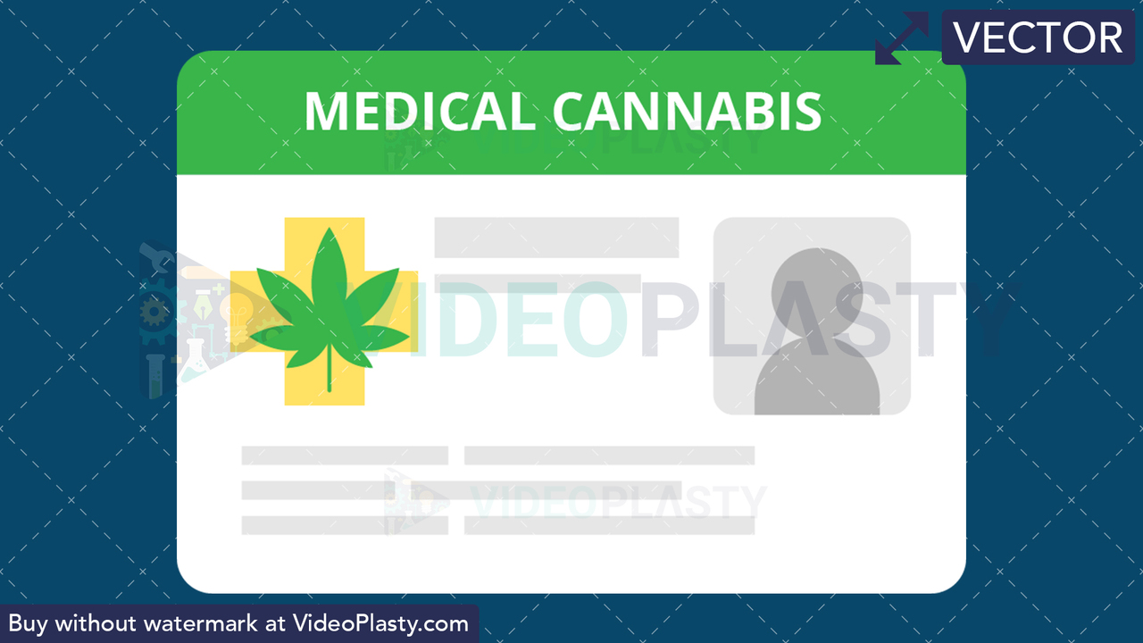Marijuana ID Card Vector Clipart