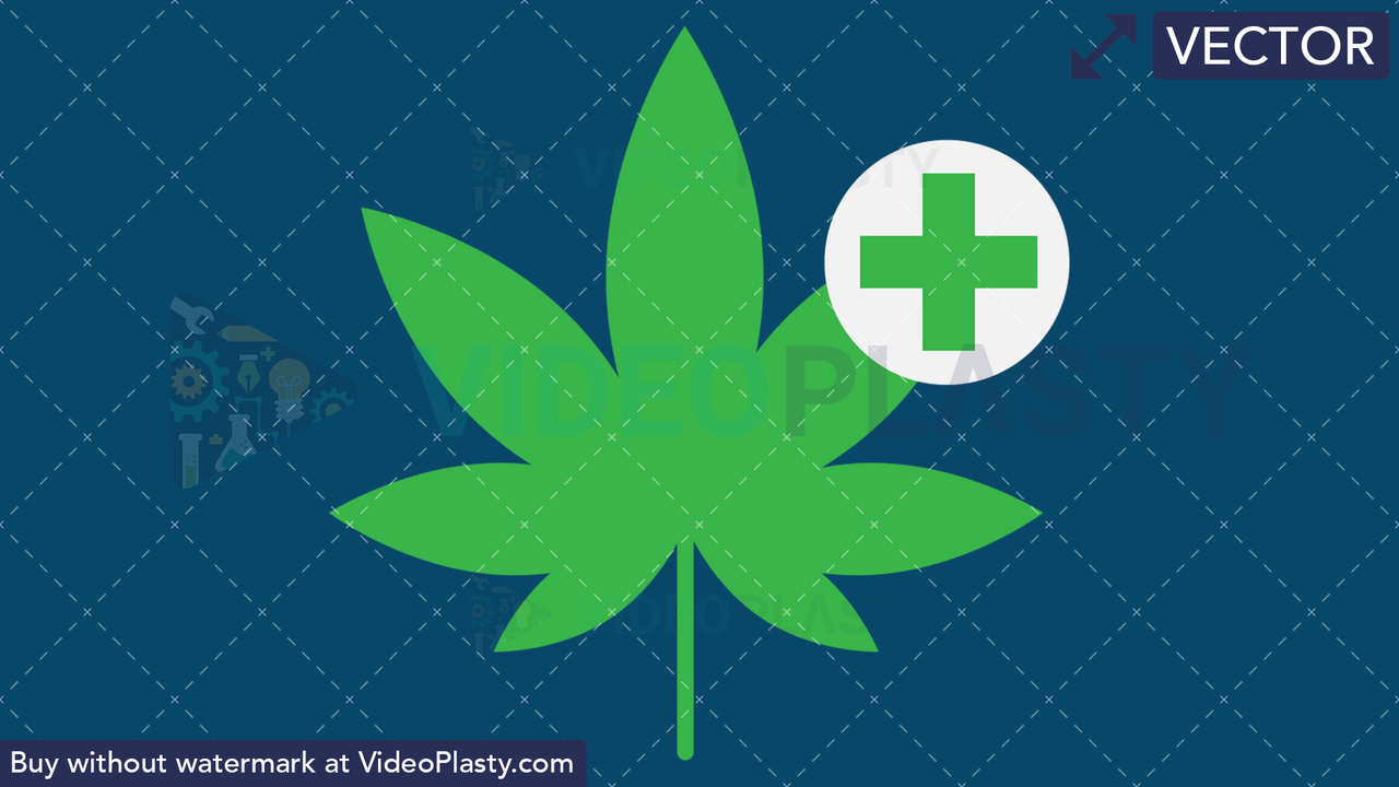 Marijuana Leaf Vector Clipart