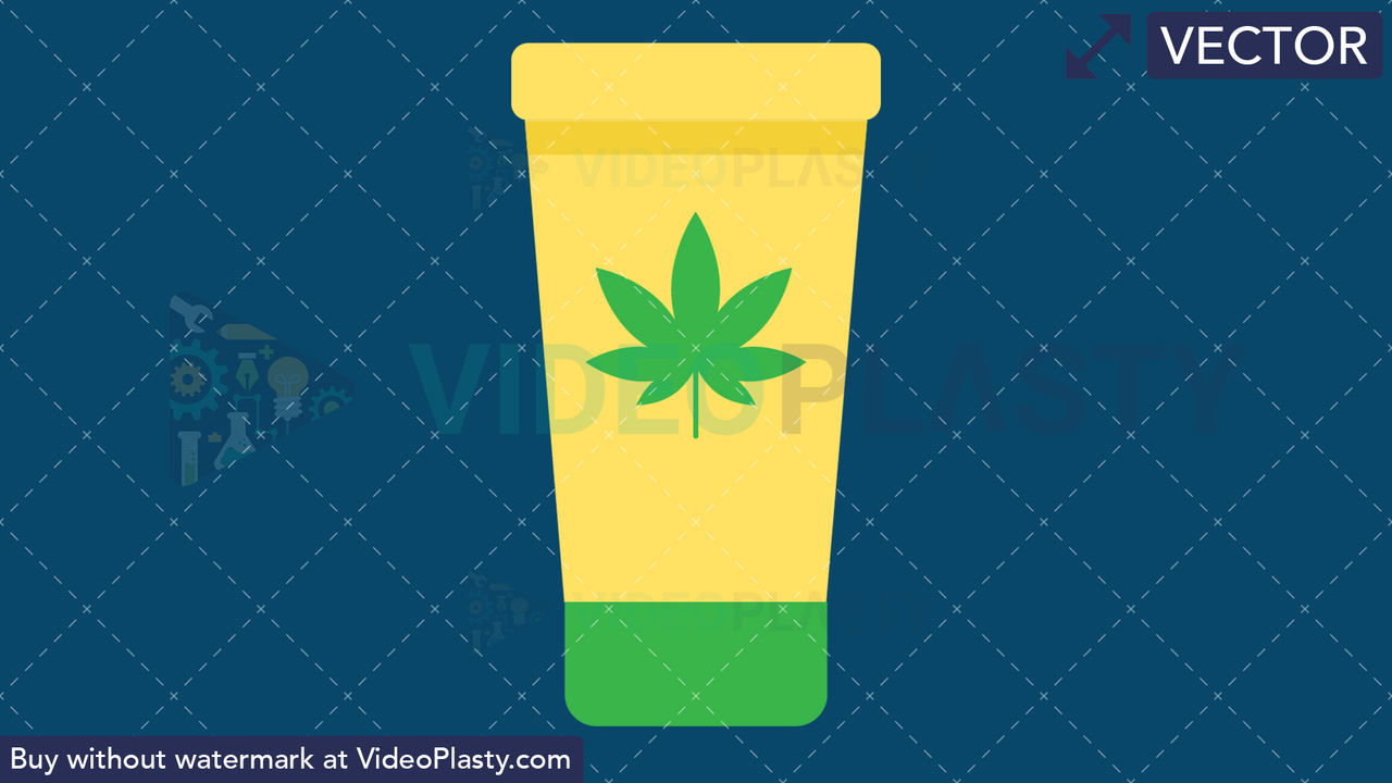 Marijuana Lotion Vector Clipart