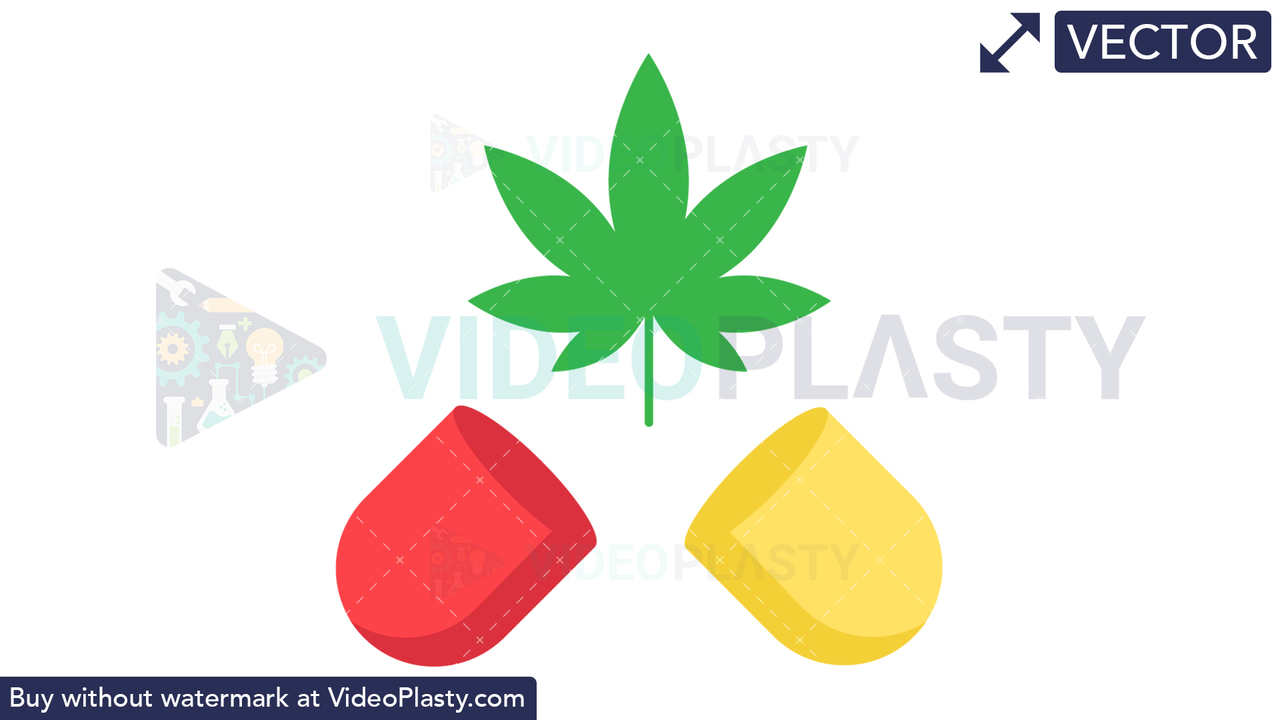 Marijuana Open Capsule Vector Clipart