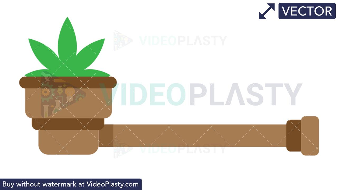 Marijuana Pipe Vector Clipart