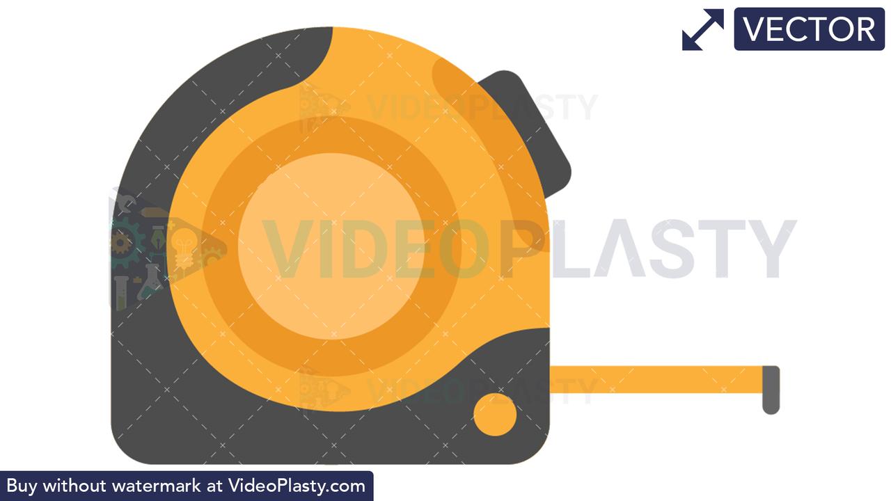 Measure Tape Icon Vector Clipart