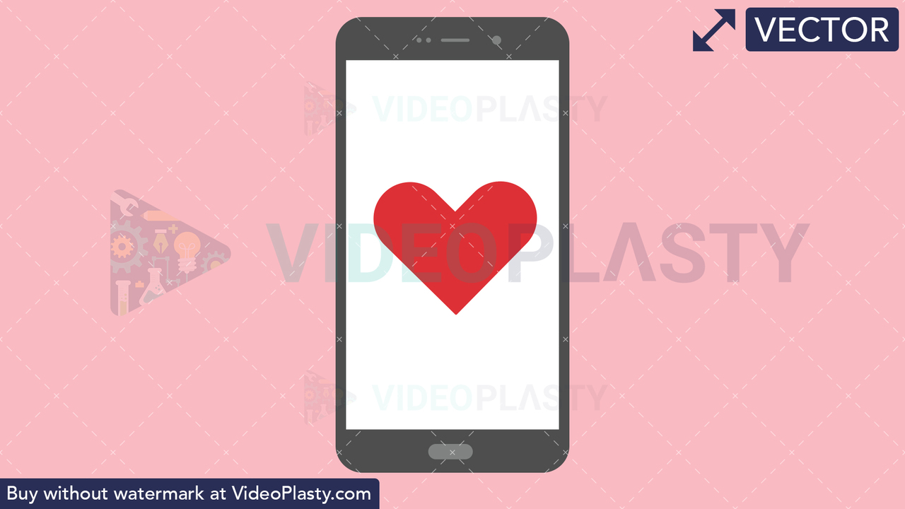 Mobile with Heart Vector Clipart