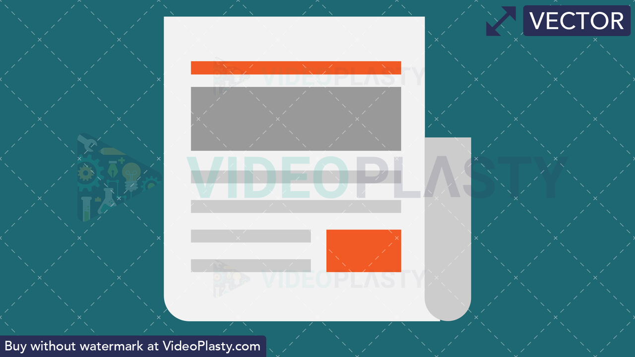 News Flat Icon Vector Clipart